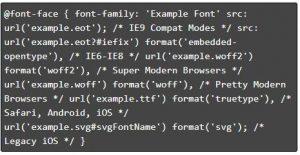 Font-face CSS rule