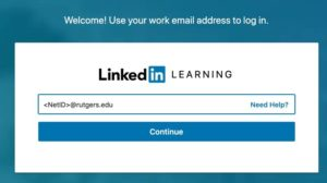 LinkedIn Learning login page