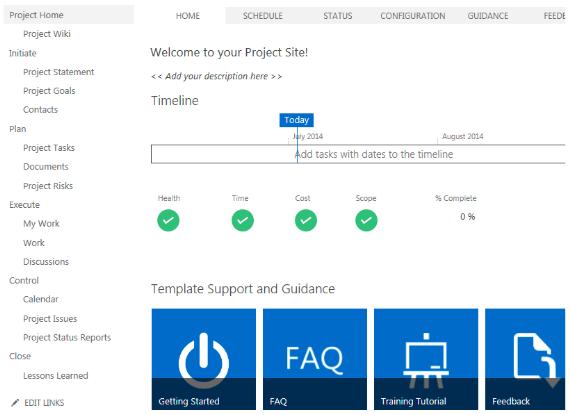 SharePoint Project Web App design