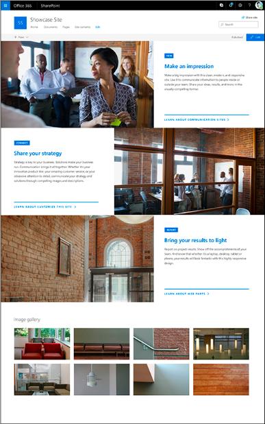 SharePoint Showcase Site Design