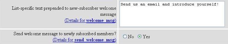 welcome msg screenshot