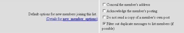 new member options screenshot