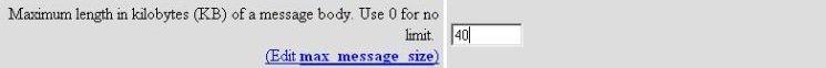 max message size screenshot