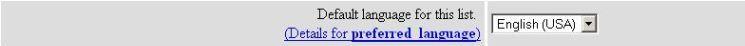 preferred language screenshot