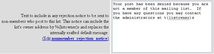 nonmember rejection notice screenshot