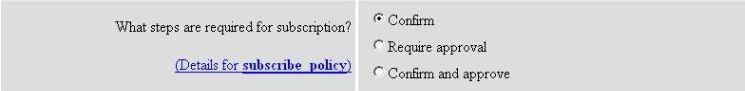 subscribe policy screenshot