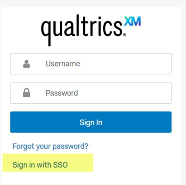 Qualtrics training log in screenshot