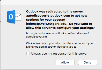 Setting up Outlook 2016 on Mac for Rutgers Connect - Rutgers
