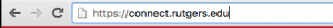 Enter connect.rutgers.edu into address bar