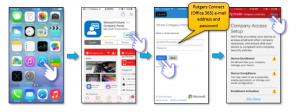Install the Intune Company Poral app in the App Store