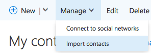 Import contacts to Connect