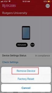 remove device from company portal