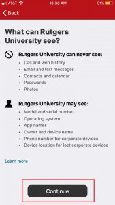 Rutgers permissions and access on management profile