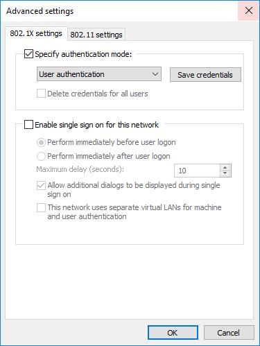 Advanced settings screenshot