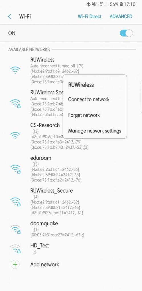 Android Wifi Screenshot