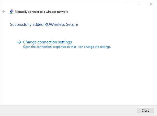 Network successfully added screenshot