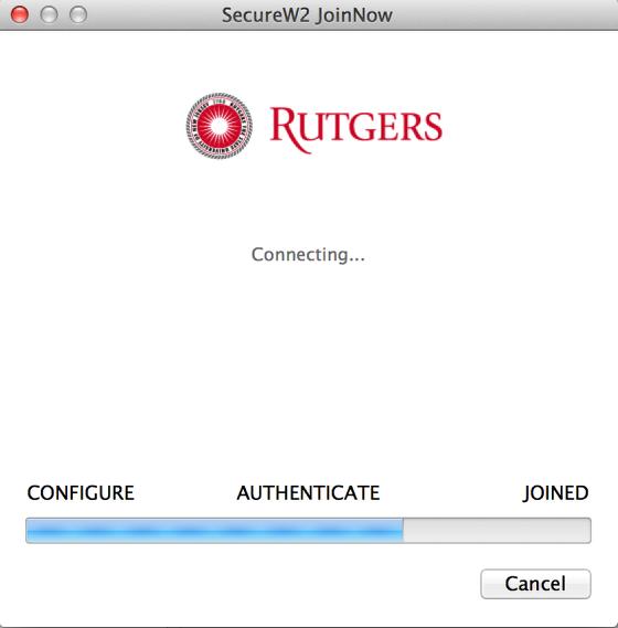 RU Wireless Installer authentication screenshot
