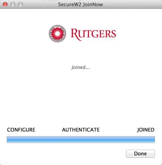 RUWireless Installer successful connection