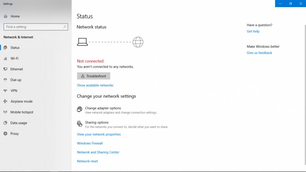Network and Sharing screenshot