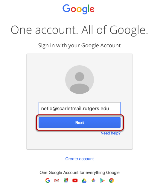 log in with Scarletmail Address