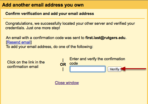 confirm email address addition