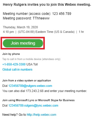 meeting invite