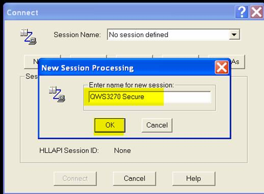 new session processing window